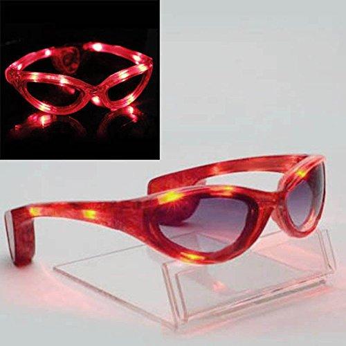 MAZIMARK--Colorful LED Light Up Glasses Blink Sunglasses Rave Party Xmas Supplies Hot - Sunglasses Mau Jim
