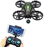 ufo toy remote control - Fistone RC Drone WiFi FPV Quad-Rotor 2.4G 4-Axis Gyro Altitude Hold Helicopters Portable Aircraft 3D Flip Remote Control UFO Exploration multirotors HD Camera Electronic Hobby Toys(Green)