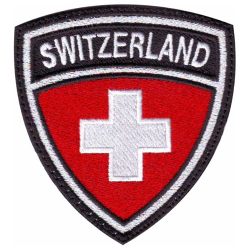 Switzerland-Crest-Badge-Flag-Embroidered-Sew-On-Patch