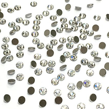 Crystal (001) clear 2058 Swarovski Nail Art tiny small ss9 2.6mm Flatbacks No Hotfix round Rhinestones original sealed pack 1440 pcs (10 gross)