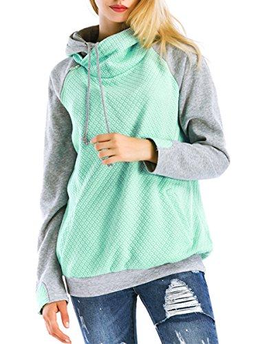 St. Jubileens Women Hoodie Sweatshirt Long Sleeve Spliced Co