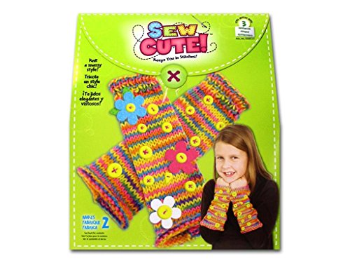 Colorbok 72697 Sew Cute Knit Fingerless Gloves Kit by Colorbok