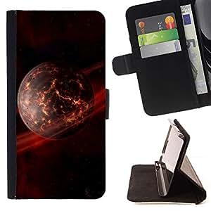 Momo Phone Case / Flip Funda de Cuero Case Cover - Arte Apocalypse anillos de Saturn Planeta Futursim - LG G4c Curve H522Y (G4 MINI), NOT FOR LG G4