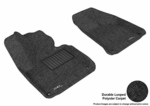 3D MAXpider Front Row Custom Fit All-Weather Floor Mat for Select Audi A3 Models – Classic Carpet (Black)