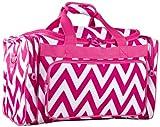 Ever Moda Pink Chevron Medium Duffle Bag