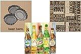 TLP Party Beer Napkins - Bundle Includes 3 Different Cocktail Beverage Napkin Beer Themed Designs