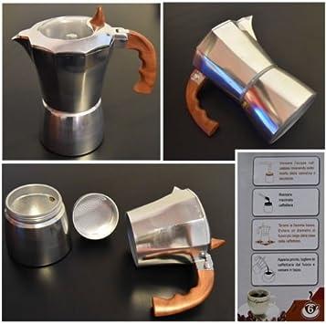 Takestop® Cafetera Moka 2 tazas tapón transparente taza expreso ...