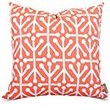 20 Inch High Ottoman Majestic Home Goods Orange Aruba Indoor/Outdoor Large Pillow 20