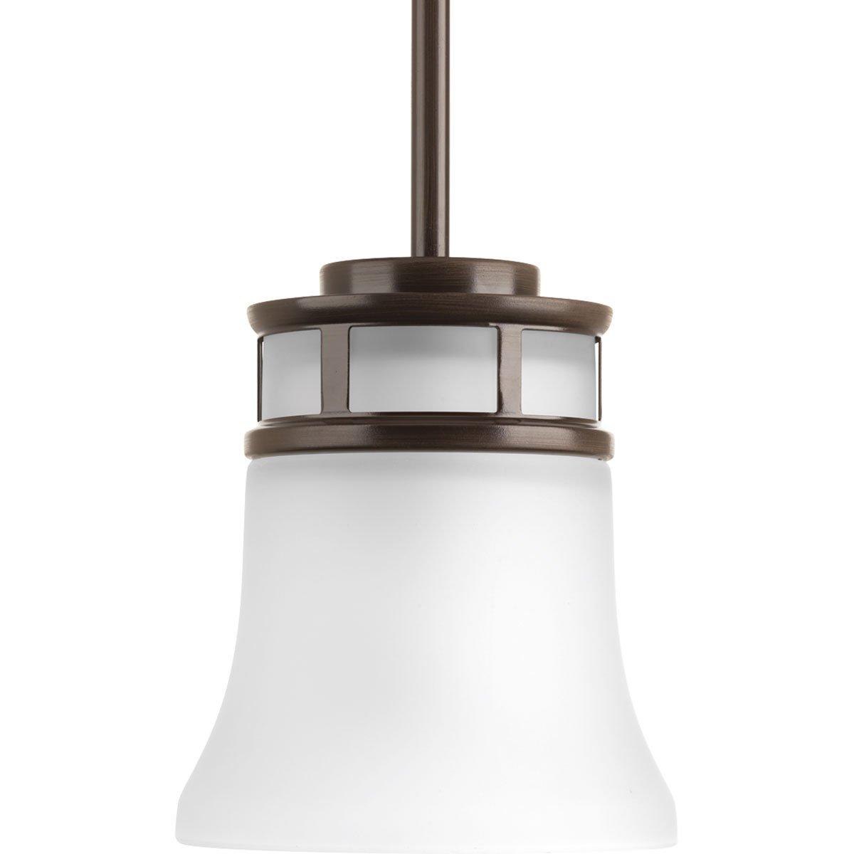 Progress Lighting p5066 – 20 Cascadia 1ライトペンダントwith Flutedシェード、アンティークBR 94506620 1 ブロンズ(antique bronze) ブロンズ(antique bronze) B01AISIVBS