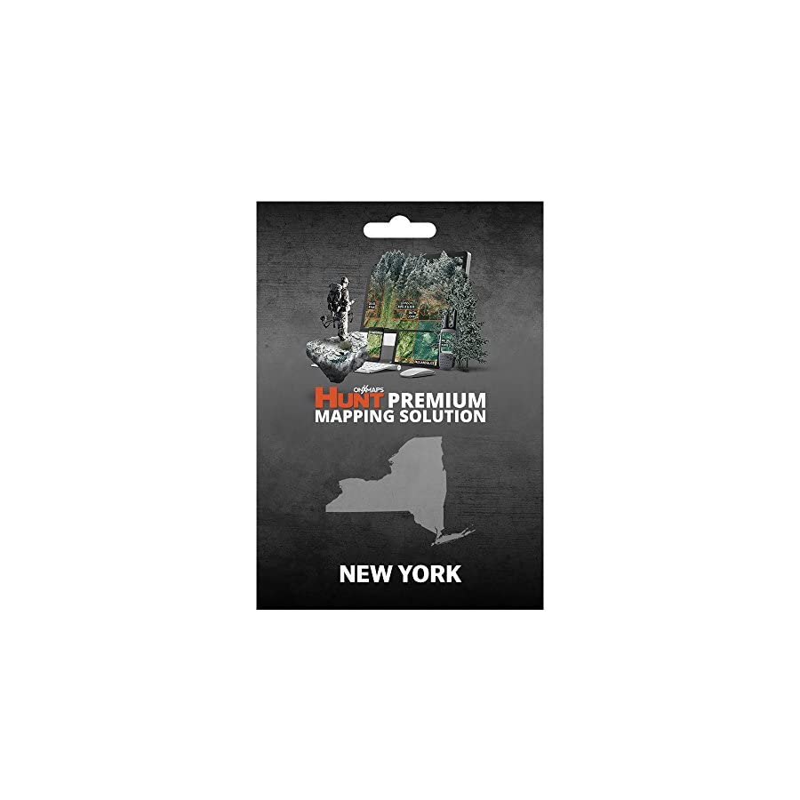 New York Hunting Maps: onX Hunt Chip for Garmin GPS Public & Private Land Ownership Wildlife Managemnt Zones Includes Premium Membership for onX Hunting App for iPhone, Android & Web