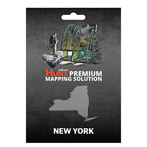 onX HUNT New York: Digital Hunting Map For Garmin GPS + Premium Membership For Smartphone and Computer Color Coded Land Ownership 24k Topo Hunting Specific Data