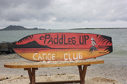 (Tikimaster Paddles UP, Canoe Club SURF Sign 40