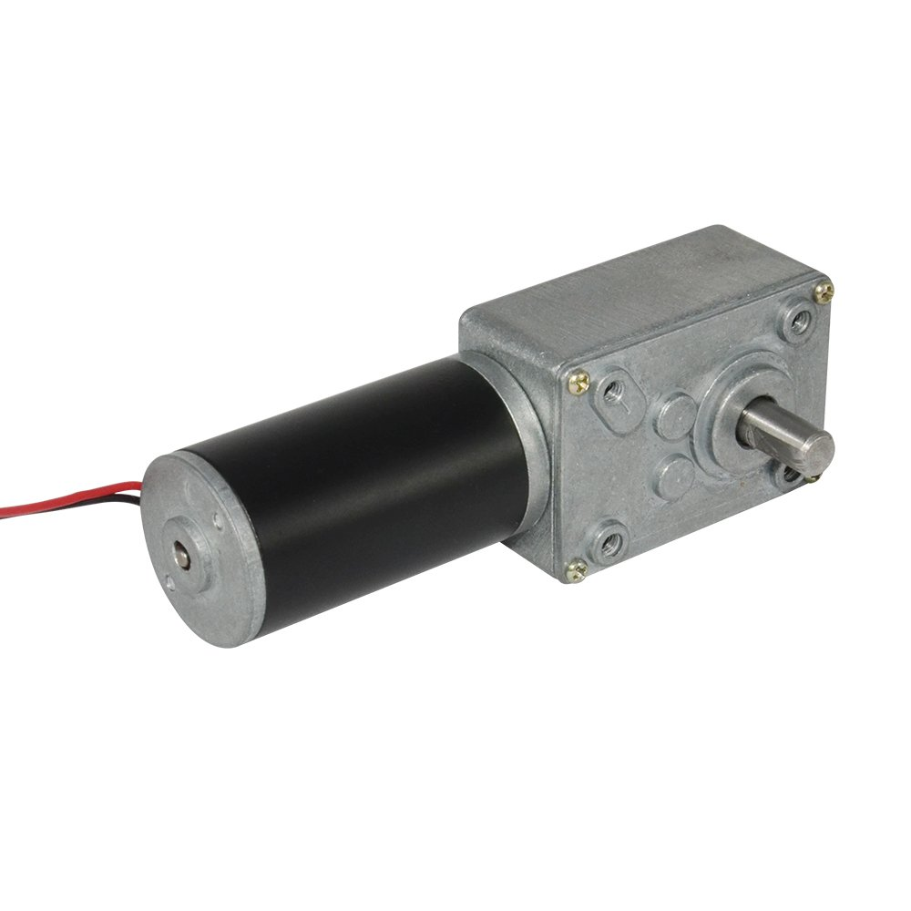 TSINY Small High Torque 12 Volt Reversible 40 RPM DC Worm Gear Motor for BBQ Drive Replacement