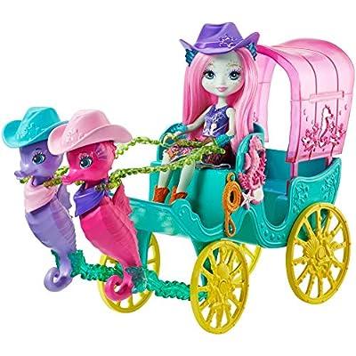 Enchantimals Seahorse Carriage Sandella Seahorse Doll and Playset: Toys & Games