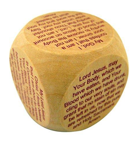 CB Catholic Prayer Cube for First Communion, 1 1/2 Inch
