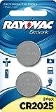 RAYOVAC KECR2025-2A 3V Lithium Keyless Entry Battery (2 Pack, Cr2025 Size)