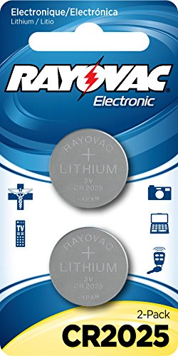 2 Cr2025 Batteries (RAYOVAC KECR2025-2A 3V Lithium Keyless Entry Battery (2 Pack, Cr2025 Size))