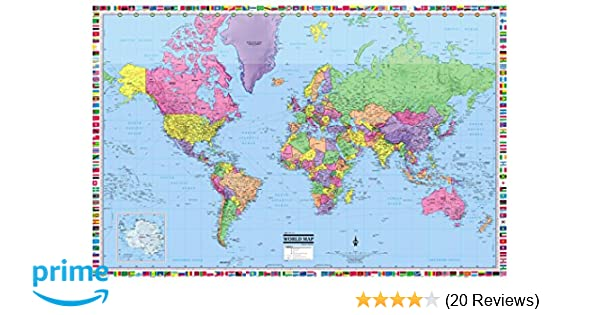 CoolOwlMaps World Wall Map Political with Flags Poster 36x24 Rolled on usa map, us elevation map, all world continents, all the world, geographical map, two worlds map, national map, continents map, lds temple locations map, south america map, tour du mont blanc map, country map, main parts of a map, www.world map, asia map, australia map, google maps trinidad street map, metal map, india map, uk map,