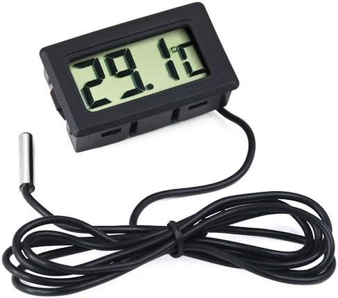de Acero y de Color Negro NONE Gadgetpooiuk/ Term/ómetro Digital para Nevera y congelador