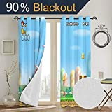 Super Mario Odyssey Insulated Curtains Thermal
