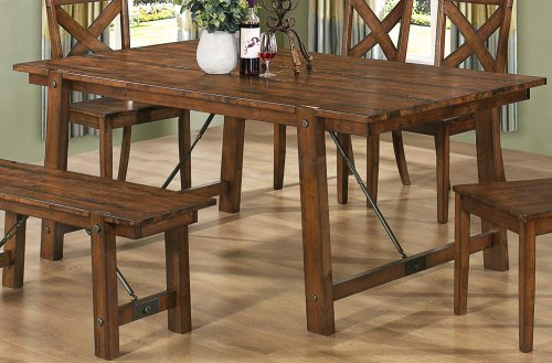 Coaster Home Furnishings Country Dining Table, Rustic Oak Part 33
