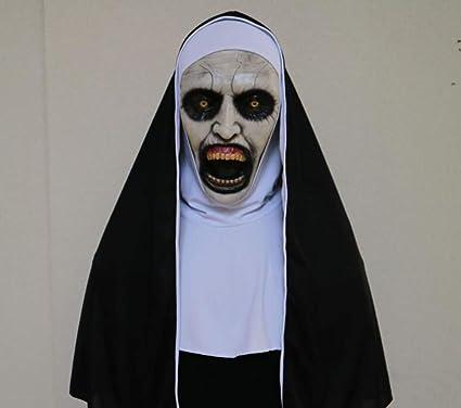 Liliya& Máscara de la Monja de látex de Horror de Halloween Partido de la Barra de