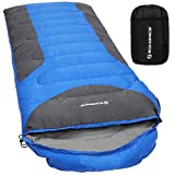 sleeping bag - SONGMICS Sleeping Bag with Hood for 23℉-60℉, Lightweight, Waterproof, Comfortable (86