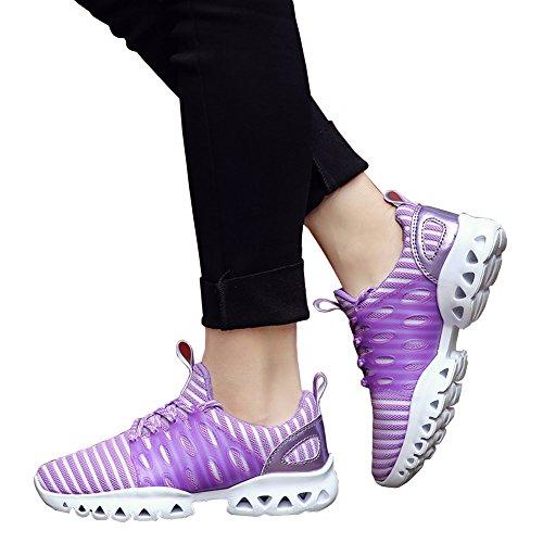 Scarpe Da Ginnastica Unisex Sportive Traspiranti In Mesh Traspiranti Sneakers Moda Viola