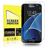 Galaxy S7Protector de visualización [2-Pack], iturbos visualización completa cobertura 3d Pet HD Protector de visualización para Samsung Galaxy S7