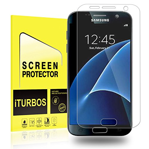 Galaxy S7 Screen Protector [2-Pack], iTURBOS Full Screen Coverage 3D PET HD Screen Protector Film for Samsung Galaxy S7