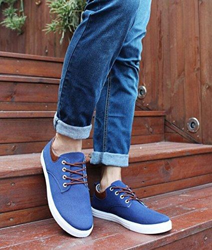 2015 Frühling und Herbst Sandalen Schnür-flache Freizeitschuhe Fashion Wohnung Herrenschuhe blau