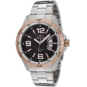 Invicta 0083 - Reloj analógico de caballero de cuarzo con correa de acero inoxidable plateada
