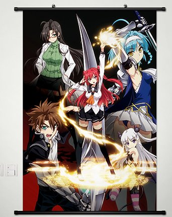 Wall Scroll Poster Fabric Painting For Anime The Testament of Sister New Devil Burst Key Roles 018 L