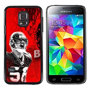 TaiTech / Prima Delgada SLIM Casa Carcasa Funda Case Bandera Cover Armor Shell PC / Aliminium - 56 Fútbol - Samsung Galaxy S5 Mini, SM-G800