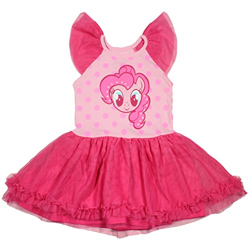 My Little Pony Little Girls' Pinky Pie Tulle Costume Dress, Light Pink/Hot Pink, (Pinky Costume)