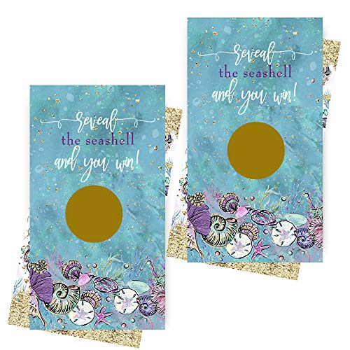 Mermaid Scratch Off Game Cards (Pack of 28) Party, Baby Shower, ()