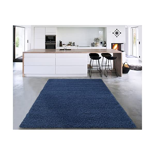 Sweet Home Stores COZY2866-3X5 Area Rug, 3'3″ x 4'7″, Navy Blue