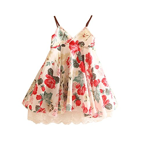 Mud Kingdom Toddler Girl Spaghetti Strap Dress Floral Summer Holiday 3T Beige