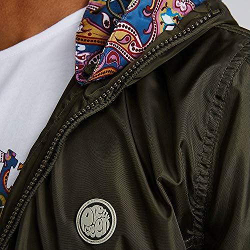 Green Hooded Zip Up Jacket Lightweight Pretty Mens Khaki FfPwqfp