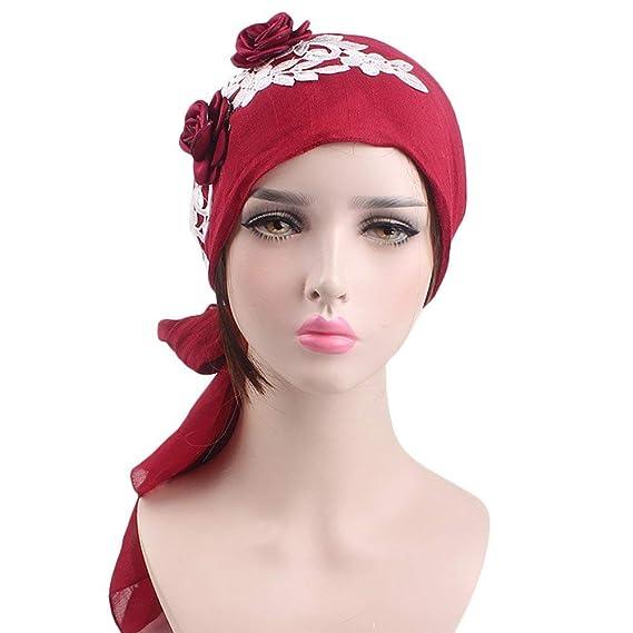Elodiey Señoras Musulmanas Turban Hijab Retro Del Casquillo Pañuelo Algodón Islámico Abaya Dubai Años 20 Mujeres Diadema Bandana Headwear Estiramiento Wrap ...