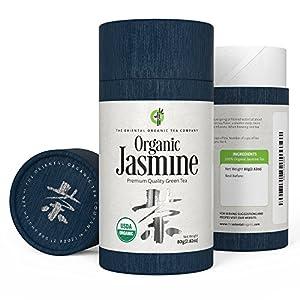 The Oriental Organic-Premium Jasmine Green Tea-(40+ servings)-2.82oz(80g)-Loose Leaf Tea-USDA Approved