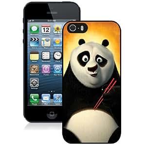 NEW Unique Custom Designed iPhone 5S Phone Case With Kung Fu Panda_Black Phone Case