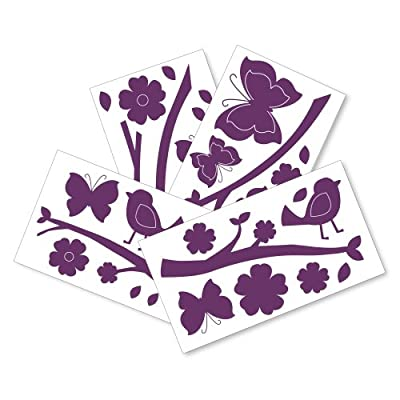 Lambs Ivy Plumberry Wall Appliques Plum Pink White by Lambs & Ivy