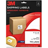 3M Permanent Adhesive Shipping Labels, 3.33 x 4 Inches, White, 150 per Pack (3200-U)