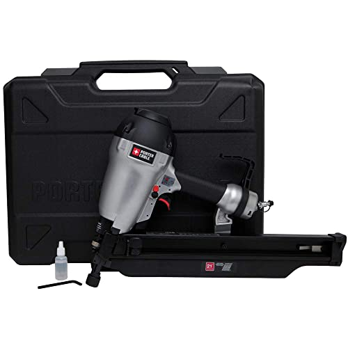 PORTER CABLE FR350BR 22-Degree Full Round Head Framing Nailer Kit, 3-1 2 Renewed