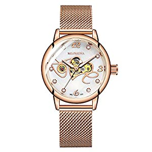 Sweetbless Mechanical Women' s Wristwatch Analog Skeleton Self-Wind Auto Watch