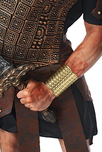 Costume Culture Men's Gladiator Circle Wrist Cuff, Gold, One Size (Halloween Gladiator Accessories)