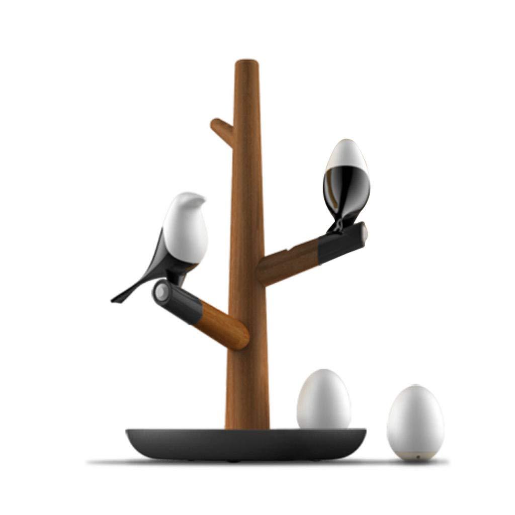 クリエイティブ寝室のベッドサイドテーブルランプ人体誘導LEDナイトライト磁気充電リビングルームのテーブルランプ (Color : Sapele) B07TWKFDF8 Sapele