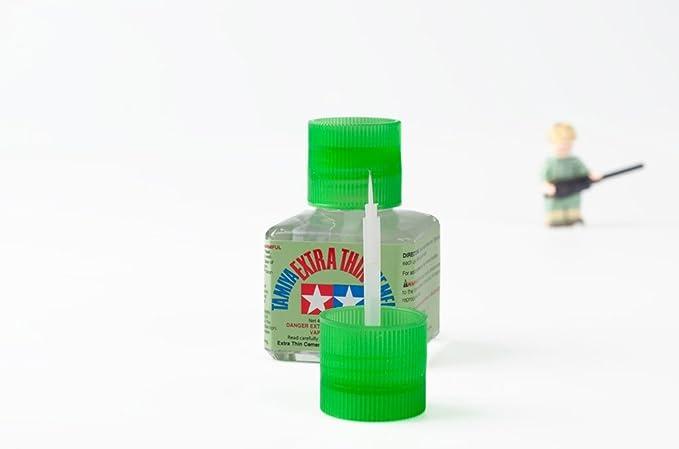 Tamiya 87038. Pack 2 botes de pegamento para maquetas extra fluido, con pincel aplicador