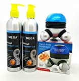 Bio-MegaTriple Strength Cold Pain Therapy Cream Pack of 2, With free Hand - Held Massager.